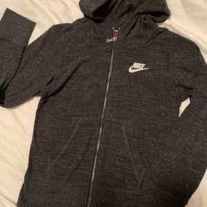 Kids Nike Zip Up Sweatshirt Medium Grey EUC
